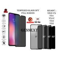 Tempered Glass Privacy Anti Spy Full Glue Vivo y91 y91c y93 y95 v9