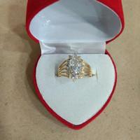cincin lady day mata putih 2 gram emas muda