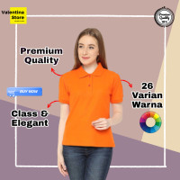 Kaos Kerah Polo Shirt Grosir Wanita Cewek Murah 1