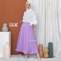 ROK PLISKET PAYUNG Pleated Panjang Hyget Skirt Muslimah