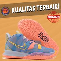 Sepatu Basket Sneakers Nike Kyrie 7 Preheat Expressions Blue Pink