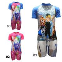 Baju renang anak diving tanggung cewek karakter - CORAK 01, M