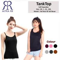 Tanktop Wanita M- XXL / Tank Top Polos Warna Tali Kecil Besar