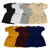 DRESS SHORT SLEEVES BAYI ANAK 1-5 Y - black, 5y