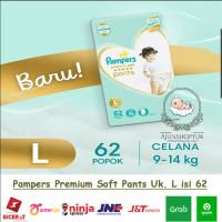 Stock 1 Pampers Premium Care Pants - Popok Celana L62 / L 62 / L-62