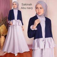 Toko Baju Wanita Sakinah Dress Fashion Muslim Remaja Putri - Navy -Abu