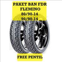 Paket ban tubles FDR FREE PENTIL ban matic FLEMINO 80/90-14 + 90/90-14