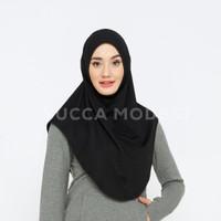 Nour Sport Hijab Jersey Kerudung Olahraga Bergo Instan - Yucca Modest - S, Hitam