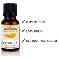Happy Green Calendula Infused Oil (10 ml) - Minyak Calendula Murni