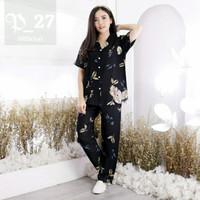 Setelan Wanita Piyama Tie Dye Set Rayon Size XL dan XXL Jumbo ld 120
