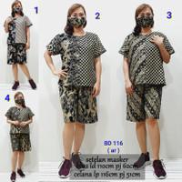 BD 116 setelan babydoll masker batik katun daster bigsize XL