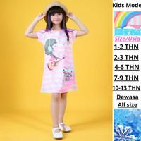 Dress Anak Perempuan Baju Anak Import Daster Fashion Kids girls cute - 1-2 tahun