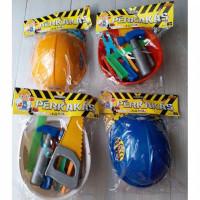 mainan helm perkakas tukang alat pertukangan