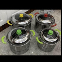 Panci Stock Pot Steamer 555 Nagako Stainless Steel Isi 4pc