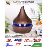 Humidifier Air Aromatherapy Ultrasonic Diffuser Wood Grain 300ml