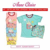 Piyama Babydoll Anne Claire Lengan Pendek - Celana Pendek Bodyfit