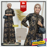 Gamis Batik Modern Baju Busana Muslim Wanita pesta Syari Mewah Terbaru