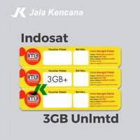 Voucher Data Indosat 3GB Unlimited Kuota Internet Murah Isi Ulang