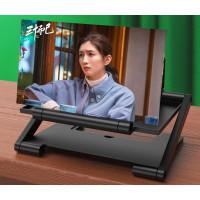 Kaca Pembesar Layar HP/Smartphone 3D HD/Enlarged Screen ukuran 12 Inch - Hitam