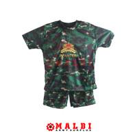 Setelan Anak Loreng Army Baju Celana Pendek NKRI Infanteri   GROSIR - M