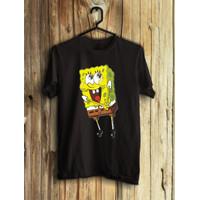 T-Shirt Spongebob Combed 30S / Kaos Distro / Kaos Murah / Atasan