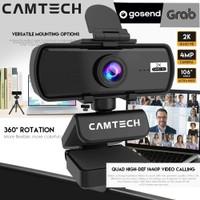 Webcam CT30 Camtech 2K 4MP - Fifine Fantech Webcam QHD 1440P