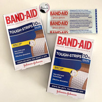 BAND AID TOUGH STRIPS EXTRA LARGE FABRIC STRIPS 10 PCS