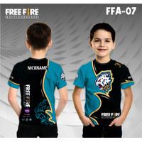 Jersey e sport anak free fire evos baju game kaos gamer ff