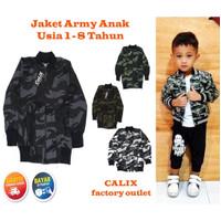 Jaket Anak Army Baby All size 1-2thn Keren Murah Unisex