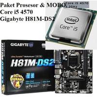 Paket NEW Prosesor Core i5 4570 dan MOBO Gigabyte H81M-DS2