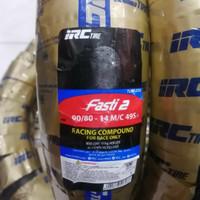 ban balap IRC FASTI 2 uk 90/80-14 ring 14 Slick Tire Soft Compound