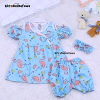 Setelan Baby Naomi 0-12 Bulan (GRATIS TOPI / BANDANA) / Baju Bayi Cewe