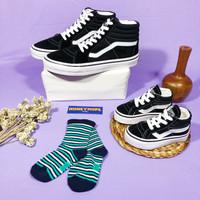 Sepatu Couple Dewasa dan Anak Model Vans Oldskool SK8 Black White Tali