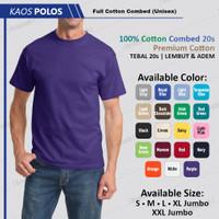 Kaos Polos Cotton Oblong Pria Ungu Bukan Gildan / NSA