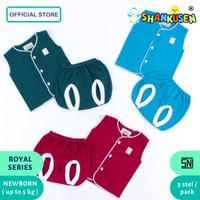 Setelan Baju Bayi Buntung Shankusen Royal Series (3 stel newborn)