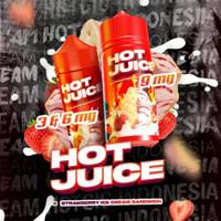Hot Juice Strawberry Ice Cream Sandwich 100ML by IDJ x Hotcig - Liquid