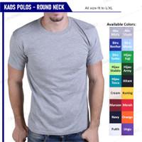 Baju Kaos Polos Oblong Pria Wanita Grosir Bukan Gildan / Combed 30s - Abu Misty