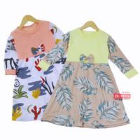 Dress Eliza Anak Uk 1-2 Tahun / Model Tunik Gamis Motif Baju Ngaji