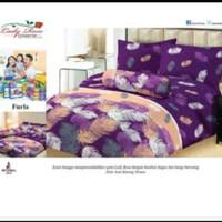 bed cover set sprei FLAT karet uk 180x200 lady rose motif Furla