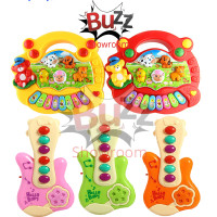 Mainan Edukasi Bayi Animal Farm Piano Binatang