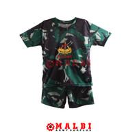 Setelan Anak Loreng Baju Celana Pendek Loreng Malvinas Raider - L