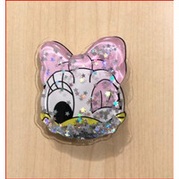 Pop Socket Glitter Liquid Karakter Disney Bubble Tea Pikachu /Stand HP