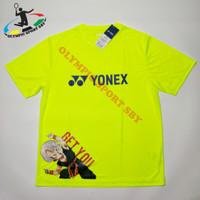 kaos yonex dragon ball hijau neon