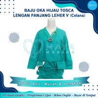 Baju OK / Hijau Tosca / Lengan Panjang / Baju Leher V / Celana Karet