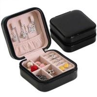 Kotak Perhiasan emas anting cincin Mini Travel aksesoris Jewerly Box