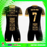 Jersey Futsal Setelan Baju Bola Motif Batik Custom Printing Nama 04