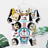 Kaos Doraemon Cewek / Baju Doraemon / Kaos Wanita Karakter / Kaos Lucu