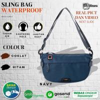 Tas Selempang Pria Waterproof Anti Air Elbrus Sling bag Cowok Distro