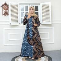 gamis batik baju wanita Batik Ibu batik longdress Batik jumbo