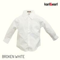 Kemeja Anak Laki Pria Polos Lengan Panjang Warna Putih Gadin KARL&EARL